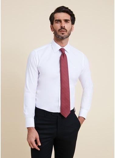 Bisse GMET2013 Regular Fit Düz Klasik Gömlek Beyaz